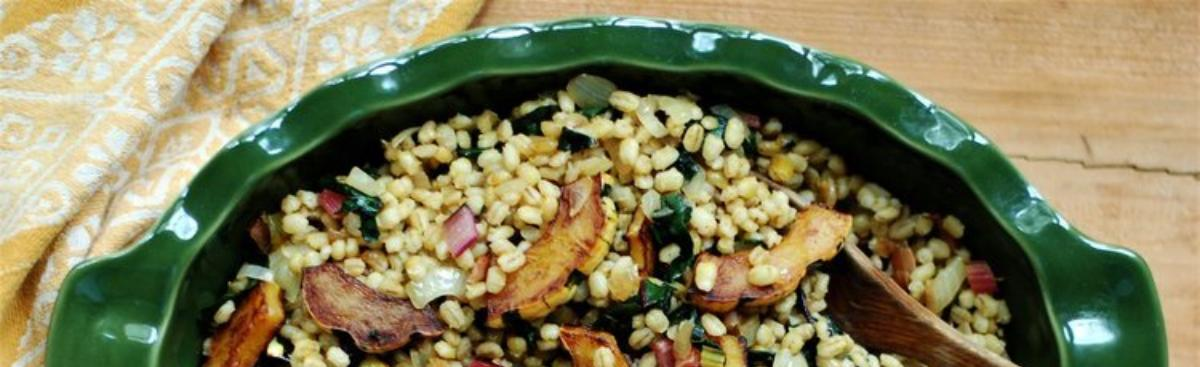 Recipe of the Week - Barley with Squash and Swiss Chard