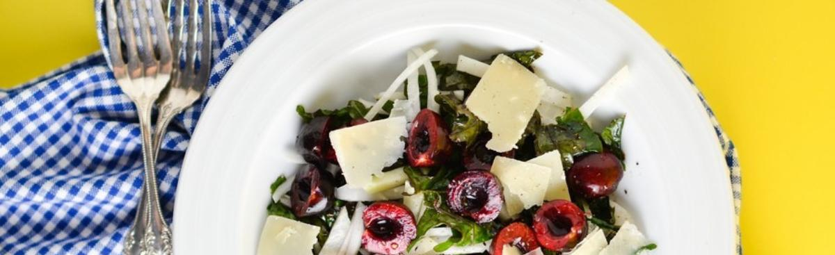 Recipe of the Week - Massaged Kale Salad with Pickled Cherry and Kohlrabi