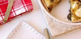 Recipe of the Week - Caramelized Onion and Sauteed Mushroom Quiche