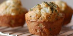 Oregano and Cheese Curd Muffins
