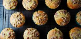 Recipe of the Week - Rhubarb Coffee Cake Muffins with Pecan Streusel