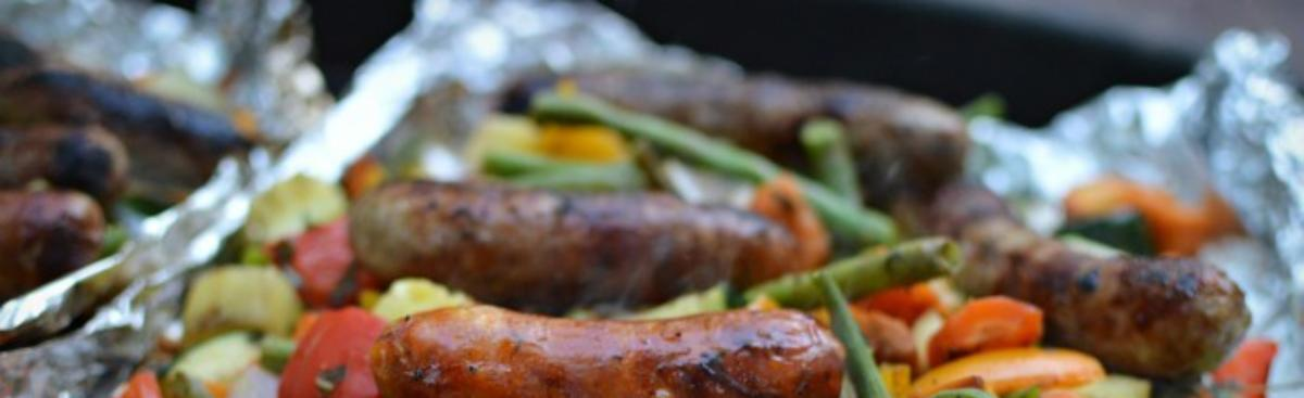WI Whisk Recipe of the Week - Sausage and Summer Vegetables over the Camp Fire (or grill)