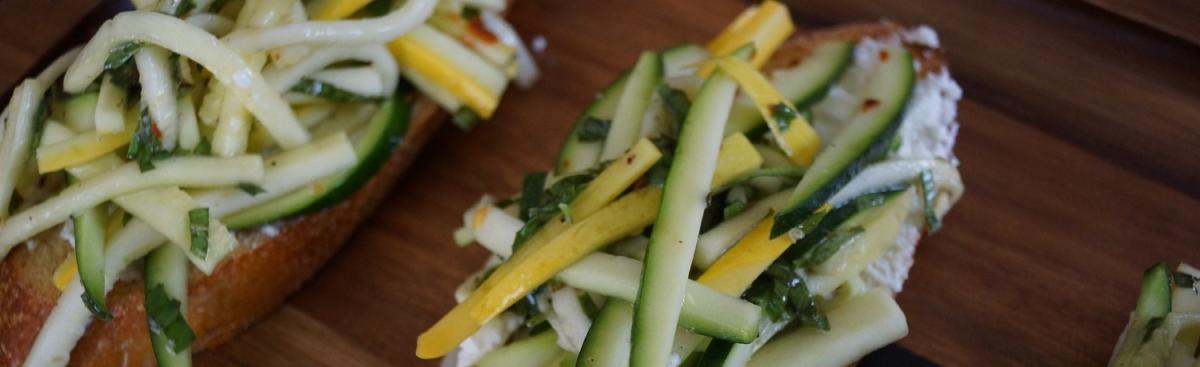 Recipe of the Week - Zucchini Tartines
