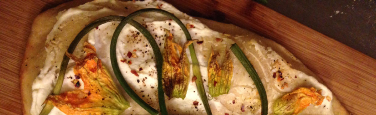 WI Whisk Recipe of the Week - Squash Blossom Garlic Scape Pizza