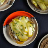 Recipe of the Week - Pear and Brie Toasts with Honey
