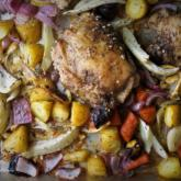 Recipe of the Week - Sheet Pan Roasted Chicken and Carrots with Harissa Yogurt Sauce