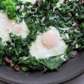 WI Whisk Recipe of the Week - Fried Eggs with Kale and Mushrooms