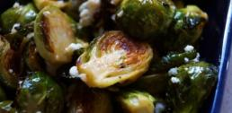 Recipe of the Week - Spicy Roasted Brussels Sprouts with Blue Cheese