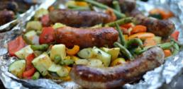 Recipe of the Week - Sausage and Summer Vegetables over the Camp Fire