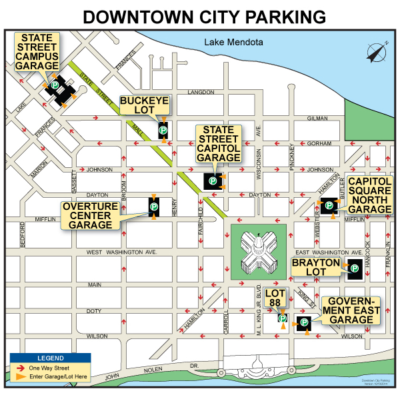 Downtown city parking